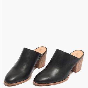 Madewell black leather the Harper mules size 7